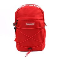 PEAP Red 'Supreme' Stylish Backpack Travel Bag