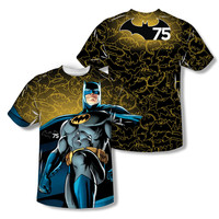 Batman 75th Anniversary Glow All Over Print Sublimation Mens T-Shirt