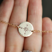 Compass Bracelet, Not All Who Wander Are Lost, Best Friend Bracelet, Long Distance, Graduation Gift, Traveling student Journey, study abroad