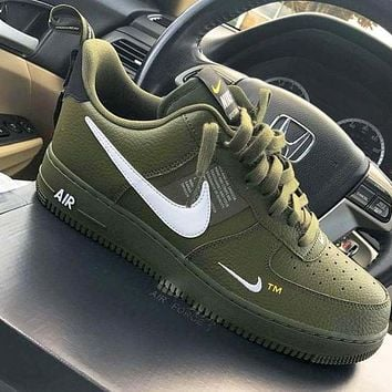 NIKE AIR FORCE 1 07 LOW 2018 new men and women casual fashion wild sports shoes Green
