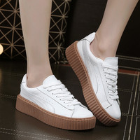 All-match Fashion Thick Bottom Small White Shoes Strappy Plate Shoes Women Shoes