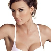 Laura Women's Soft B Cup White Bra Natural Enhancement 32B - 38B