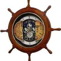 0-000450>Voyager Classic Musical Wall Clock Oak