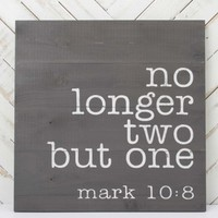 No Longer Two Wall Art | Altar'd State