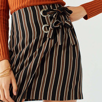 UO Grommet-Tie Wrap Mini Skirt | Urban Outfitters