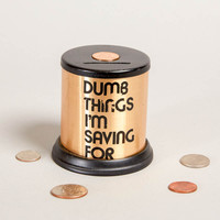 "Vintage 1960's ""Dumb Things I'm Saving For"" Coin Bank"