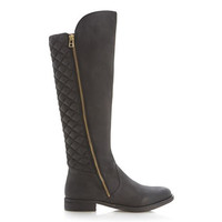 Steve Madden Northsde - Black Riding Boot
