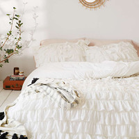 Waterfall Ruffle Duvet Cover - Urban Outfitters