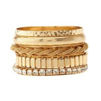 Gold Stacking Bracelets - 5 Pack by Charlotte Russe - Gold
