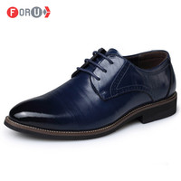 ForU 2015 Men Shoes Leather shoes Italian Craftwork Men Dress Shoes Genuine Leather Brogues Oxfords wedding shoes for men