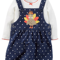2-Piece Thanksgiving Bodysuit & Jumper Set