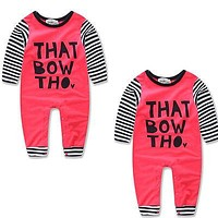 2016 Newborn Baby Clothes Sets Girls Boy Romper Outfits Kids Costume Set