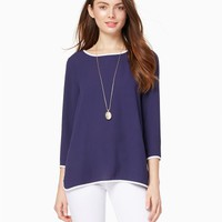 Color Tipped Blouse   Fashion Apparel   charming charlie