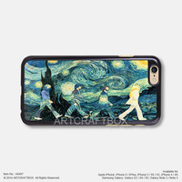 The Beatles Abbey Road Vincent van Gogh The Starry Night iPhone 6 6Plus case iPhone 5s case iPhone 5C case iPhone 4 4S case Samsung galaxy Note 2 Note 3 Note 4 S3 S4 S5 case 497