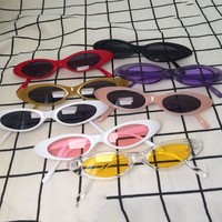 Small Frame Oval Sunglasses Women Men 2018 New Clout Goggles Glasses Brand Designer Kurt Cobain Sun Glasses Cool Eyewear UV400