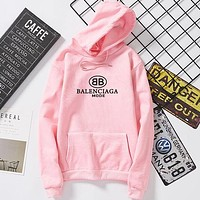 Balenciaga Trending Women Men Stylish Print Hooded Sweater Top Sweatshirt