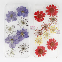 Floral iphone 5 case iphone 4 case iphone 4s case Iphone 5s case 5c glitter Dried Dry daisies Pressed Flower rose Real Flower resin