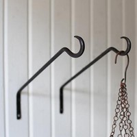 Forged Iron Wall Hooks #2 - Set Of 4