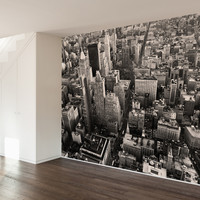 Flatiron City from Above Wall Mural Decal