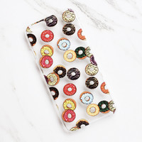 Donut Print Clear iPhone Case