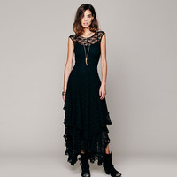Free People Inspired Black Lace Dress