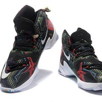 Nike Zoom LeBron James 13 Black (With Llion Head Pattern )Basketball Shoes