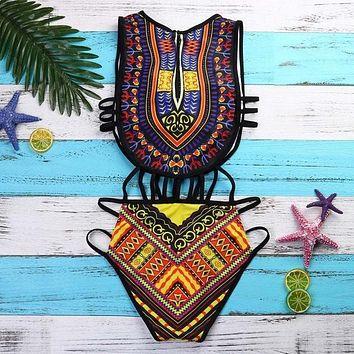 One Piece African Print Swimwear