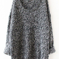 Gray Fashion Cozy Casual Sweater for Women
