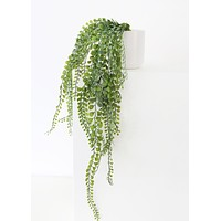 """Artificial Hanging Button Fern Plant in Pot - 24"""" Long"""