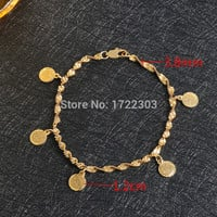 gold plated muslim allah Ancient Coins bracelet bangles for women & men Turkish Egyptian Algeria Moroccan Saudi gold jewelry