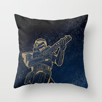 Star Wars Gold Edition Throw Pillow by Anas Alshanti