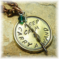 Harry Potter Keep Calm and Carry a Wand by HillCountrySilver