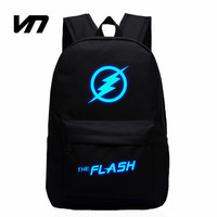 VN 2016 Hot Sale Movie Captain America Avengers Flash Man Star Luminous Backpack Casual Teenager Backpacks Travel Bags For Fans