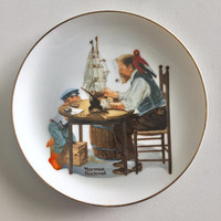 Norman Rockwell Keepsake Display Souvenir plate