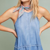 Cloth & Stone Tiered Chambray Halter Top