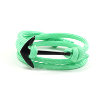 Black Anchor on Mint Rope