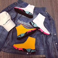 ONETOW balenciaga stretch fabric casual sports shoes socks boots 9
