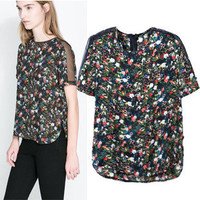 New Hot Fashion Womens Casual Blouse Short Foever21 Like Sleeve Shirt T shirt Summer Blouse Tops = 4721870404