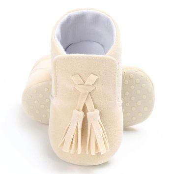 Baby Moccasin Newborn Babies Shoes Pu Leather Prewalkers Boots