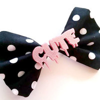 Halloween Creepy Cute Polka Dot Hair Bow