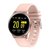 RUNDOING Smart Watch for Android Phones, 1.3 Inch Color Screen Fitness Tracker Activity Tracker, Heart Rate Monitor Fitness Watch,Compatible with iOS and Android Gold