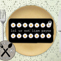 Lol Ur Not Liam Payne Quote Daisy Pattern Tumblr 1D Custom Rubber Tough Phone Case For The iPhone 4 and 4s and iPhone 5 and 5s and 5c