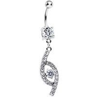 Clear CZ Flawless Fashion Dangle Belly Ring | Body Candy Body Jewelry