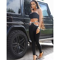 Samira Stylish Embellished Bandage Pants and Top