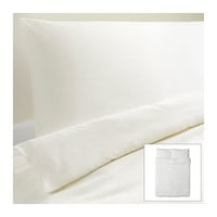 DVALA Duvet cover and pillowcase(s) - white - Full/Queen (Double/Queen) - IKEA