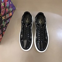 lv louis vuitton men fashion boots fashionable casual leather breathable sneakers running shoes 785