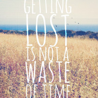 Getting Lost Quote Print for Wanderlusts   Beach Photography   Gift Under 30   Pacific Ocean   Malibu, California