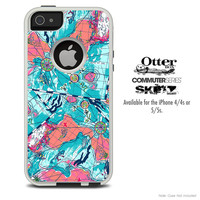 The Abstract Navigation Skin For The iPhone 4-4s or 5-5s Otterbox Commuter Case