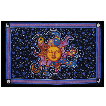 Dreaming Sun Tapestry - purple wall tapestry, hippie tapestry, mandala tapestry, boho bohemian tapestry