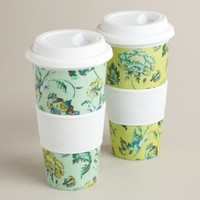Indochine Floral Non-Paper Cups, Set of 2 - World Market